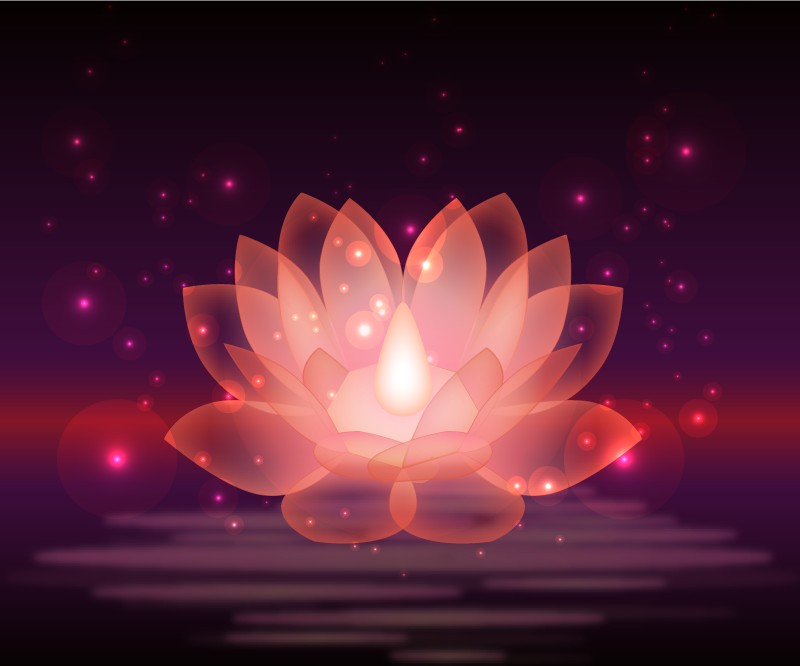 TenVinilo. Alfombra vinilo morada flor loto brillante. Una increíble alfombra vinilo morada con flor de loto en apariencia gráfica. Fácil de mantener y muy duradera. Disponible en cualquier tamaño