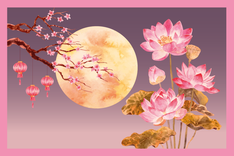 TenVinilo. Alfombra vinilo flor loto escena nocturna. ¿Por qué no darle nueva vida y energía a su habitación con esta hermosa alfombra vinilo flor de loto? ¡Pida este diseño en nuestra tienda online hoy!