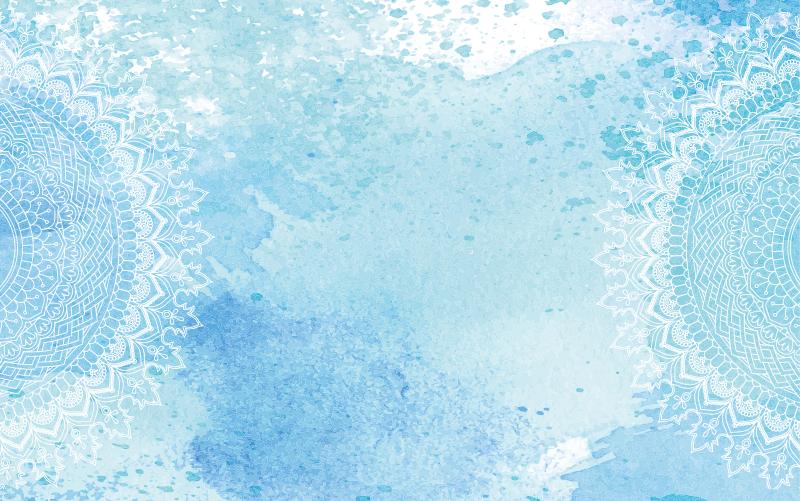 TenVinilo. Alfombra vinilo mandala azul acuarela. Alfombra vinilo azul suave para decorar tu hogar reflejando tu personalidad y estilo. Fácil de mantener, duradero y disponible en tamaños.