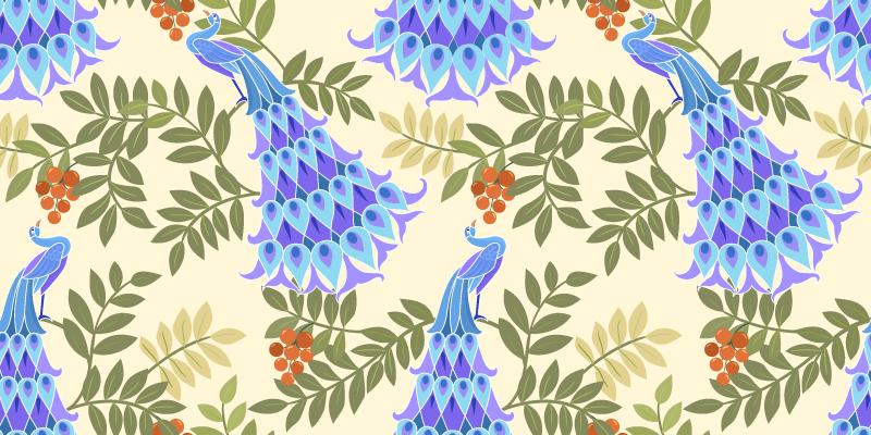 TENSTICKERS. 魔法の孔雀の羽のアニマルプリントマット. 装飾的な花柄をあなたの空間にスタイリッシュに取り入れたいですか?それなら、この魔法の孔雀の羽のアニマルプリントマットを検討する必要があります。