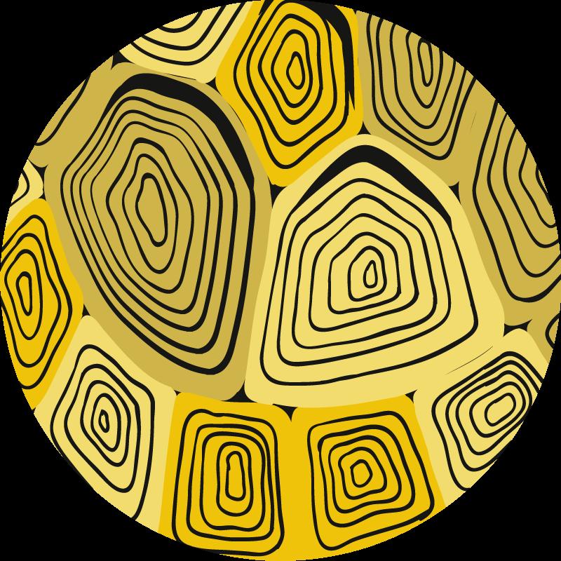 TenStickers. Tappeto in pvc stampa animale Modello di casa tartaruga gialla. Tappeto in vinile con stampa animalier fantasia tartaruga gialla per la decorazione della casa e di altri spazi. è facile da pulire resistente.