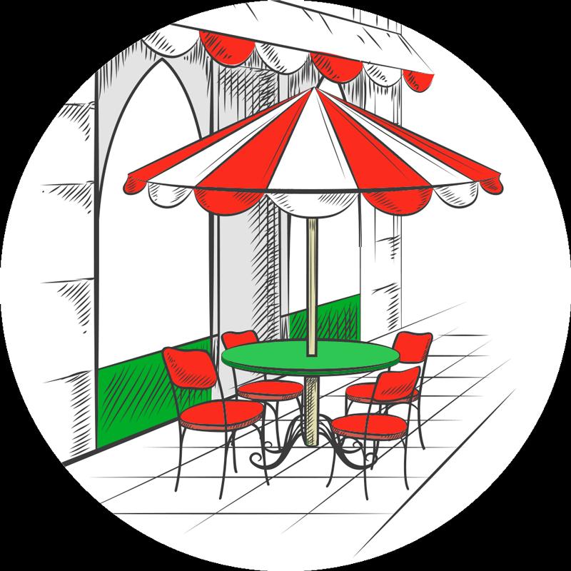 TENSTICKERS. イタリアのカフェキッチンビニールラグ. 赤、緑、白のクラシックなイタリアンコーヒーバーをイメージしたコーヒービニールラグ-イタリア国旗の色合い!