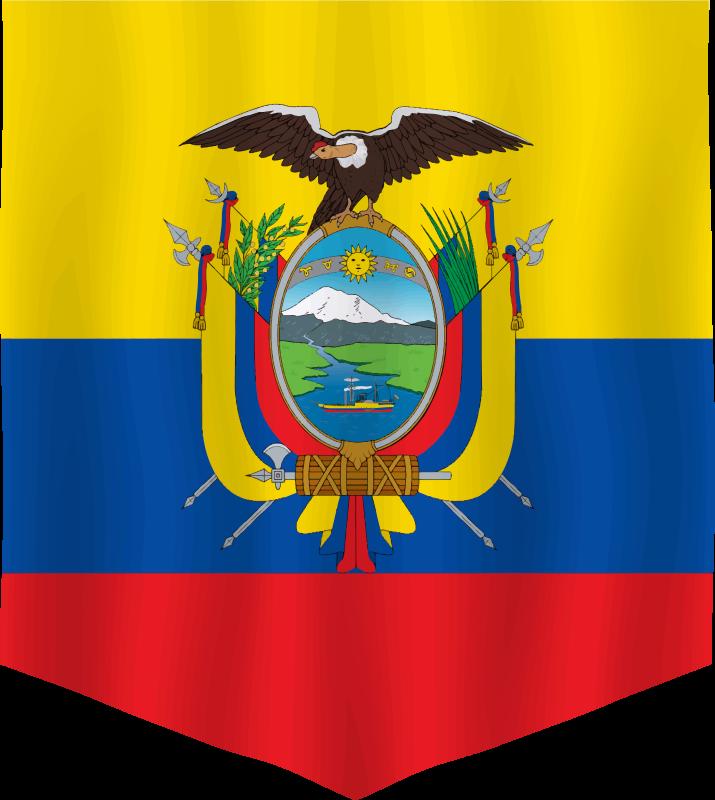 TenVinilo. Alfombra vinilo rayas escudo Ecuador. Fantástica alfombra vinilo rayas con la bandera de Ecuador en amarillo, azul y rojo y el escudo de este fantástico país ¡Envío exprés a domicilio!