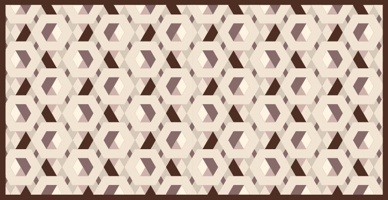 TenStickers. Covoare geometrice hexagonale bej. Covor geometric hexagonat bej pentru a crea acel aspect calmant și calmant la care te-ai gândit. Disponibil în orice dimensiune necesară, ușor de curățat și durabil.