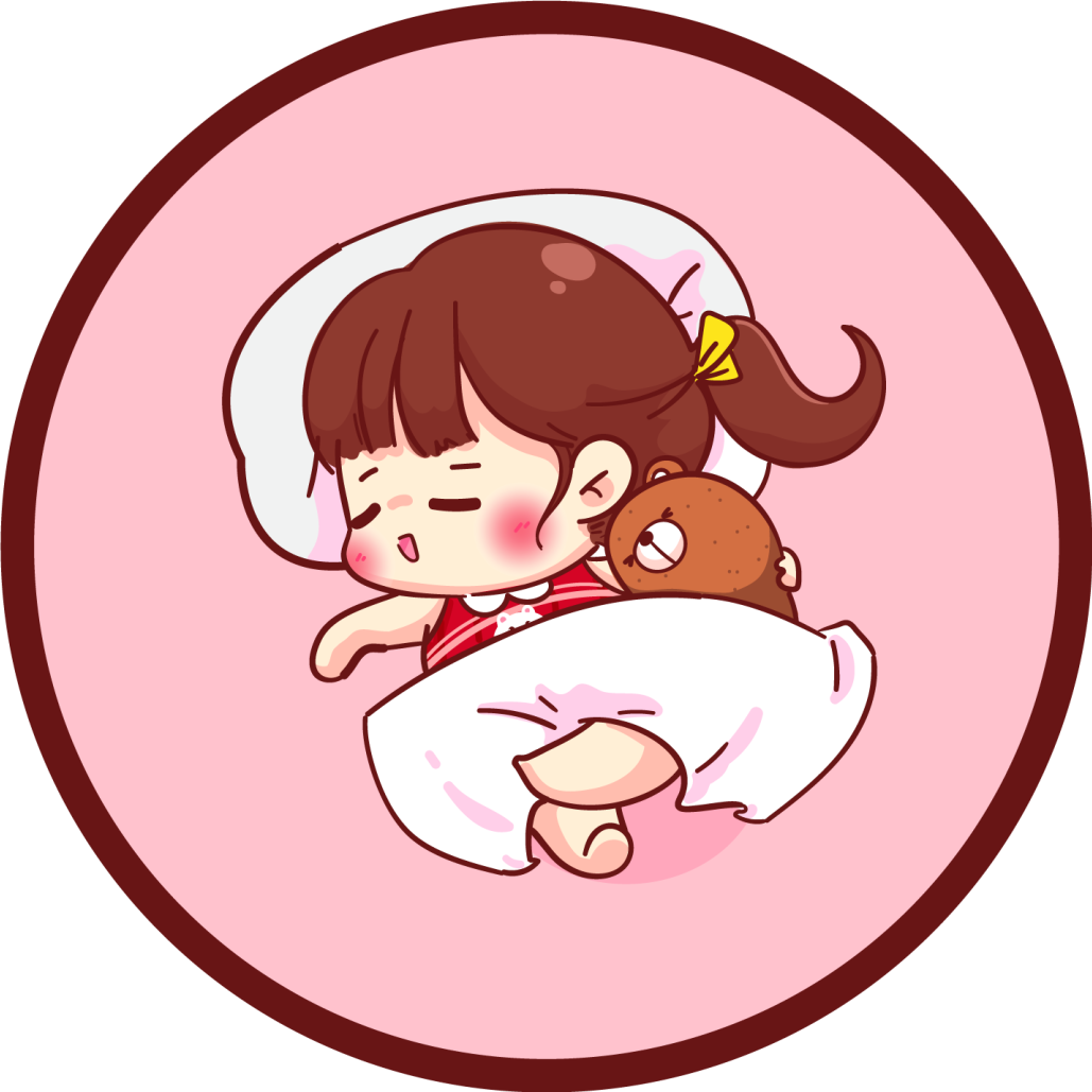 TenStickers. Sleeping Anime Girl kids vinyl carpet. Anime vinyl rug which features a very cute image of an anime girl sleeping with a teddy bear. Extremely long-lasting material.