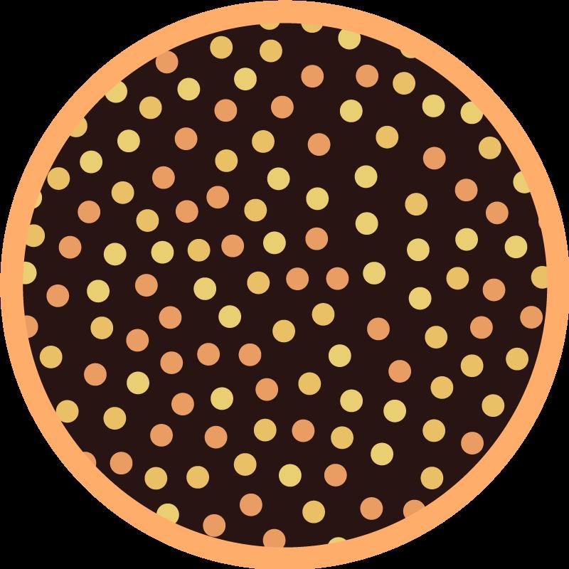 TENSTICKERS. 黄色と黒の水玉模様の幾何学的なカーペット. オリジナルのラグマットにはさまざまなサイズがあり、ニーズに合わせてカスタマイズすることもできます。今すぐ注文するこのリビングルームのビニールフローリング