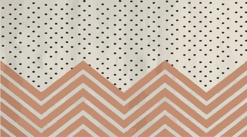 TenVinilo. Alfombra vinilo geométrica de rayas zig zag. ¿Quiere agregar un diseño moderno y elegante a su hogar? ¡Esta alfombra vinilo geométrica es perfecta para ti! Diseño con topos y rayas zigzag