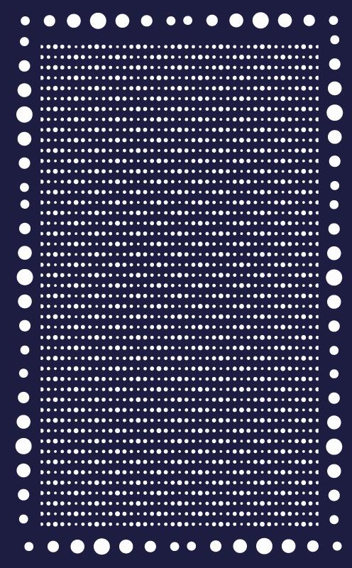 TenVinilo. Alfombra vinilo geométrica borde de lunares. Alfombra vinilo geométrica de lunares que presenta un asombroso patrón de lunares azul marino y blanco con un gran borde relleno de lunares.