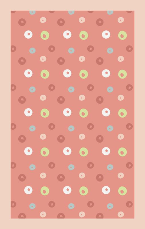 TenVinilo. Alfombra vinilo geométrica lunares rosas. Alfombra vinilo geométrica de lunares que presenta un impresionante patrón de lunares en varios tonos de blanco, verde, azul y rosa ¡Envío exprés!