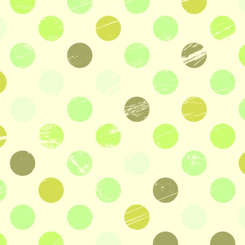 TenStickers. Tapetes geométricos de bolinhas verdes. Tapete de vinil de bolinhas que apresenta um impressionante padrão de bolinhas em vários tons de verde claro e escuro. Vinil anti-bolha.