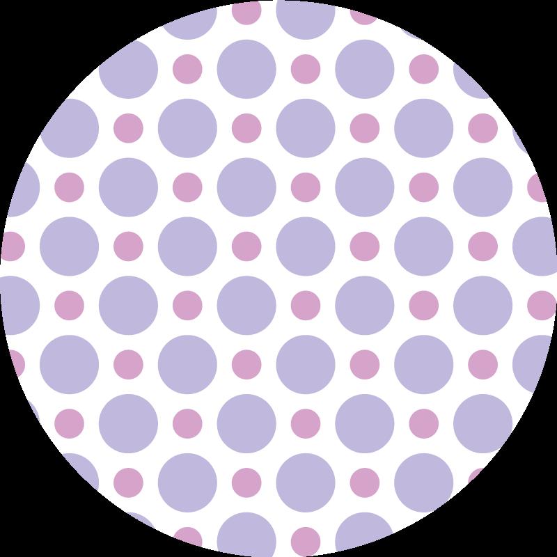 TenVinilo. Alfombra vinilo redonda lunares morados. Alfombra vinilo redonda que presenta un hermoso patrón de lunares en varios tonos de violeta. Materiales de alta calidad ¡Envío exprés!
