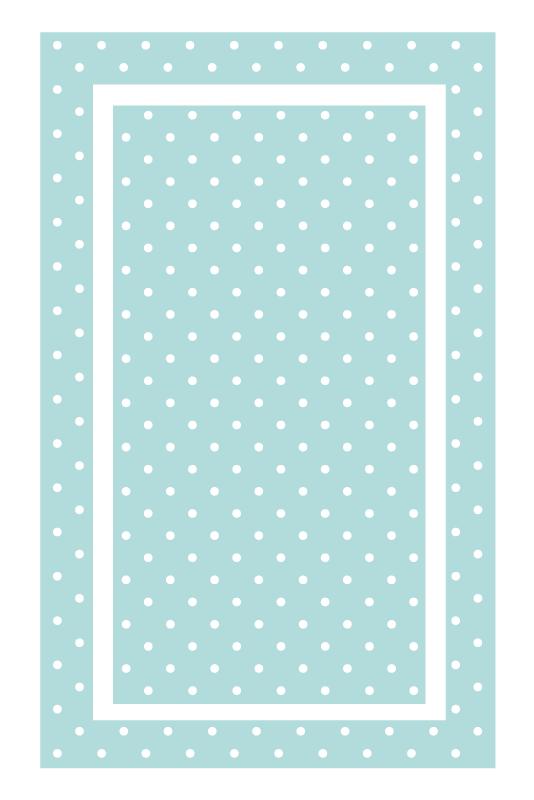 TenVinilo. Alfombra vinílica azul lunares blancos. ¿Por qué no pedir hoy una hermosa alfombra vinílica azul con lunares blancos que cambiará radicalmente tu decoración? ¡Compra online!