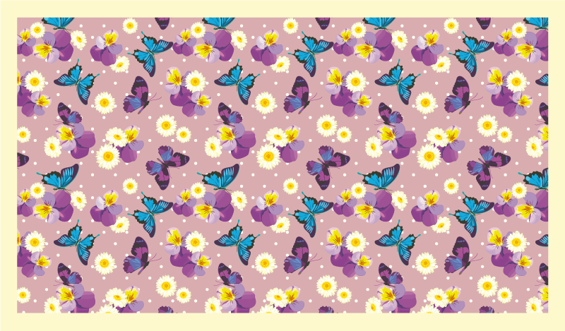 TenVinilo. Alfombra vinilo infantil flores y mariposas. ¡Esta alfombra vinilo infantil rosa se ve absolutamente increíble! Material antideslizante y antialérgico que se adapta perfectamente a su hogar.