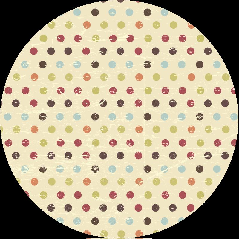 TenStickers. Covoare geometrice multicolore cu buline. Acest produs de covor din polka dot multicolor nu numai că va arăta absolut uimitor în casa ta, dar îi va da și aromă! Livrare la domiciliu azi!