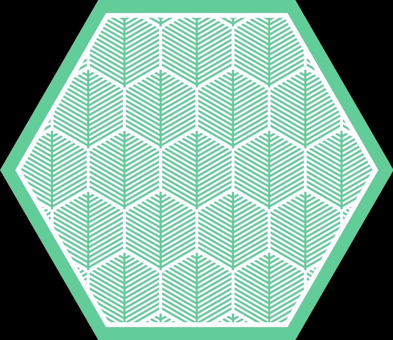 TenVinilo. Alfombra vinilo floral azul forma hexagonal. Alfombra vinilo floral con la ilustración de hojas verdes con formas hexagonales que le darán un toque de modernidad y exclusividad a tu dormitorio.