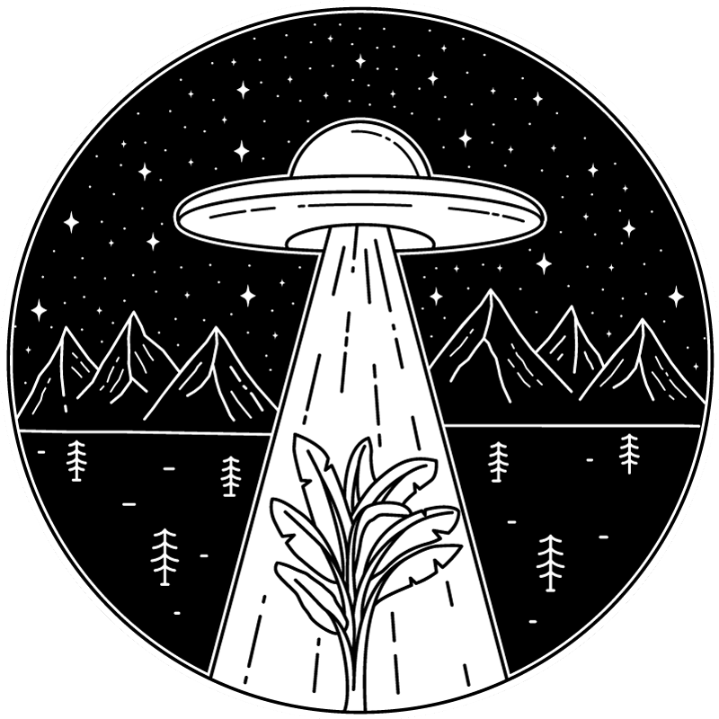 TenStickers. UFO in the night teenage rugs for bedrooms. Get this teen vinyl rug product with an artistic UFO design in black and white drawn colors today! Home delivery to your own planet!