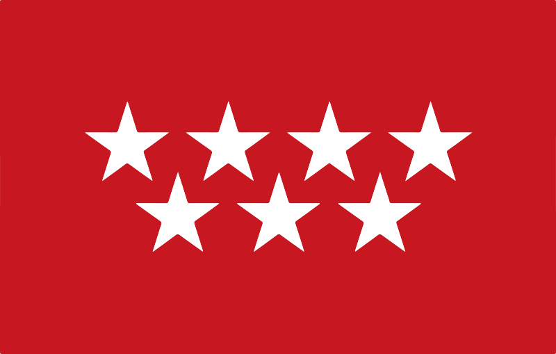 TenVinilo. Alfombra vinilo roja bandera Comunidad Madrid. ¡Demuestra tu amor por región con esta alfombra vinílica roja de la bandera de la Comunidad de Madrid! Puedes elegir el tamaño que desees