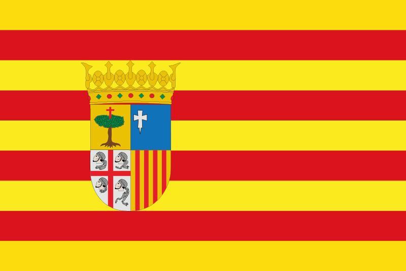 TenVinilo. Alfombra vinilo rayas bandera Aragón. Preciosa alfombra vinilo rayas con diseño de bandera que representa la bandera de Aragón. Perfecto decorar cualquier estancia de tu hogar