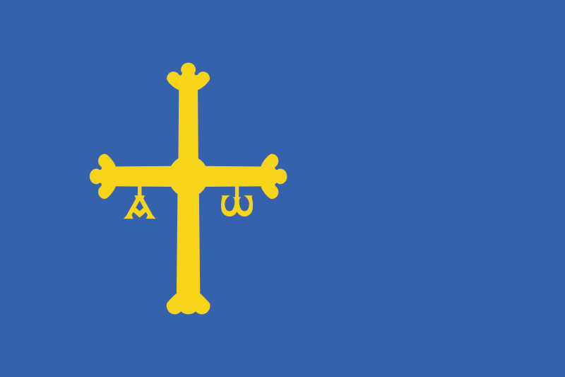 TenVinilo. Alfombra vinílica azul bandera de Asturias. Alfombra vinílica azul con la bandera de Asturias: agregue un toque encantador para decorar cualquier estancia de tu casa con tu orgullo asturiano