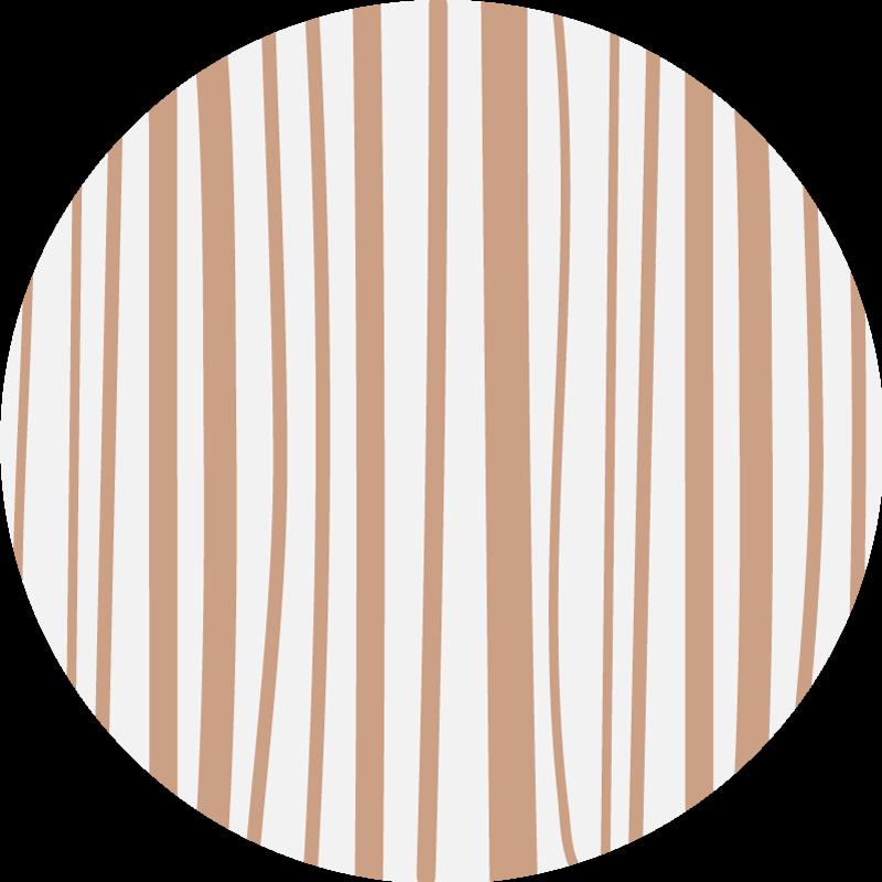 TenVinilo. Alfombra vinilo nórdica rayada marrón. Alfombra vinilo nórdica a rayas que presenta un patrón de rayas marrón claro sobre un fondo blanco. Disponible en varios tamaño ¡Alta calidad!