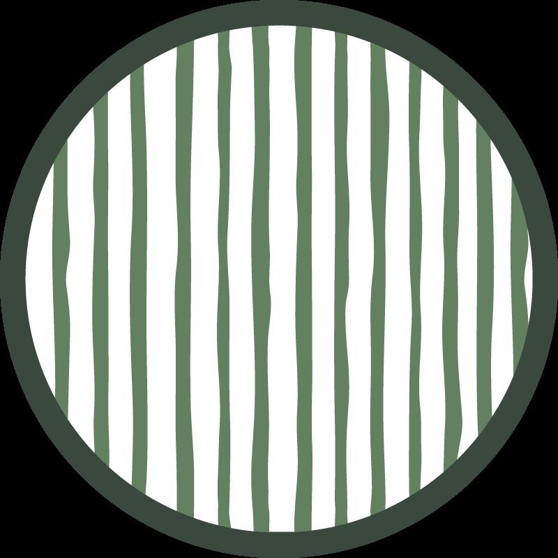 TenStickers. Tapetes de vinil nórdico listrado verde escuro. Tapete de vinil nórdico com padrão de riscas verdes escuras sobre fundo branco. Escolha o seu tamanho. Materiais de alta qualidade.