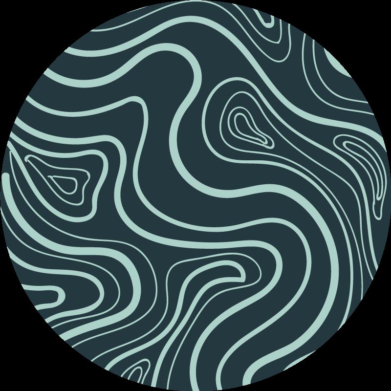 TenStickers. Covoare din vinil nordic verde întuneric. Covor nordic din vinil care prezintă un model uimitor de vârtejuri abstracte de culoare verde deschis pe un fundal verde / albastru mai închis. + 10. 000 de clienți mulțumiți.