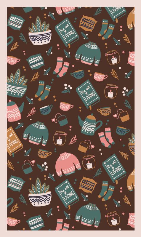 TenVinilo. Alfombra vinilo nórdica de vestimenta. Aquí tenemos una alfombra vinilo nórdica que a tus hijos les encantará. Agréguelo a su carrito ahora y cómprelo en línea ¡Envío exprés!