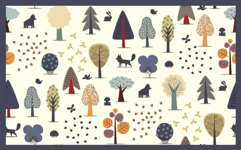 TenVinilo. Alfombra vinilo nórdica patrón árboles. Aquí tenemos una increíble alfombra vinilo nórdica que se vería hermosa en su habitación. ¡Agréguela a su carrito ahora para comprarla en línea!