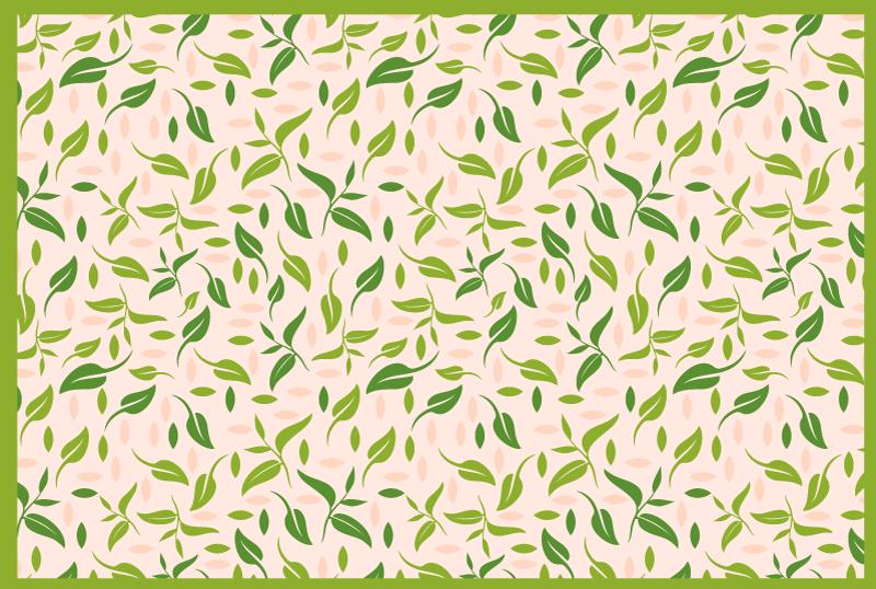 TenVinilo. Alfombra vinilo nórdica de hojas verdes. ¿Busca una manera rápida y fácil de agregar un símbolo elegante a su dormitorio o sala de estar? ¡Esta alfombra vinilo nórdica de hojas es suya!