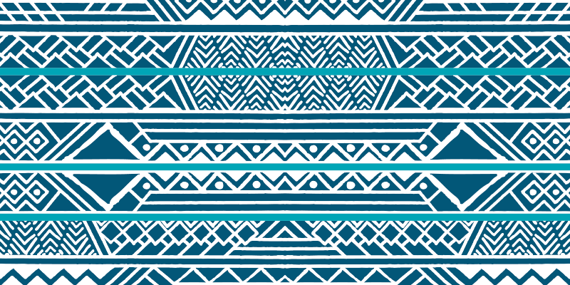 TenVinilo. Alfombra vinilo rayas azul ornamentales. Increíble alfombra vinilo rayas azules ornamentales para que decores tu casa de forma elegante y original ¡Envío exprés a domicilio!