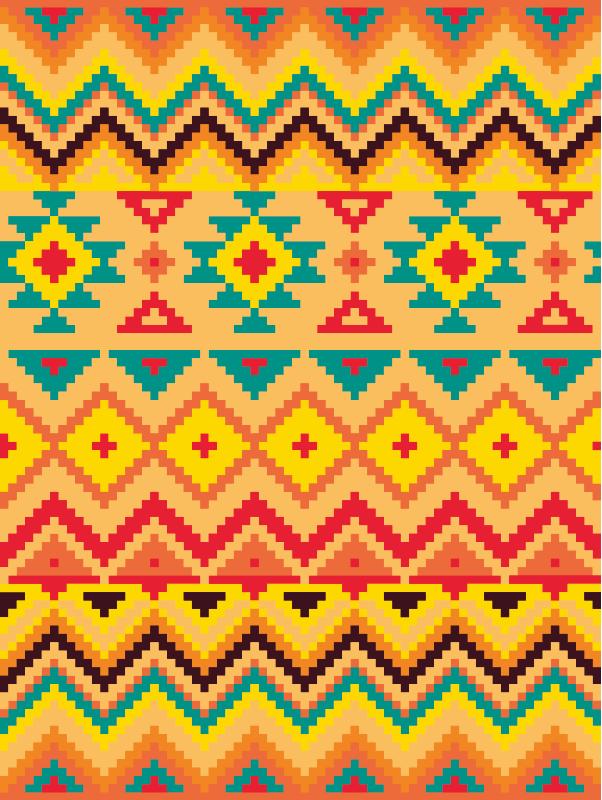 TenVinilo. Alfombra vinilo rayas naranjatribal. Una increíble alfombra vinilo rayas con patrones de rayas de colores. El diseño es original, duradero, impermeable y fácil de mantener.