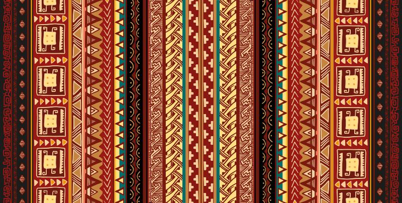 TenVinilo. Alfombra vinilo rayas aztecas. Alfombra vinilo rayas aztecas con diseño para dar arte tribal en su lugar con este increíble diseño. Elige las medidas ¡Envío gratuito!