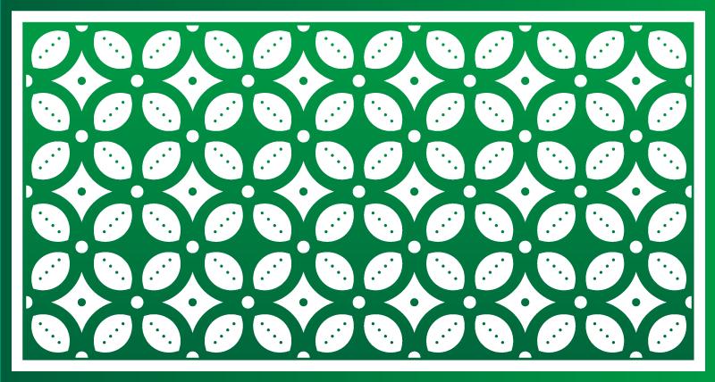Tenstickers. Smaragdgrønne fliser kjøkkengulv. Fantastisk mønster originalt vinylteppe for en elegant dekor overalt. Et elegant preg til inngangspartiet ditt eller kontoret til!