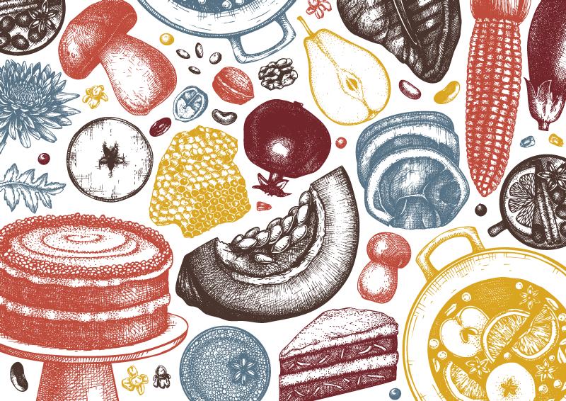 TenVinilo. Alfombra vinilo cocina frutas de otoño. Alfombra vinilo cocina con el diseño de frutas, verduras y otros alimentos que llenará de originalidad y exclusividad tu cocina ¡Envío gratis!