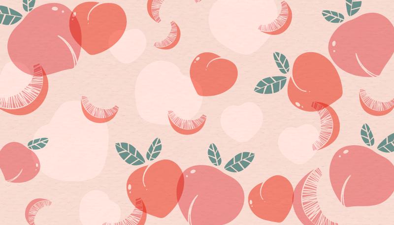 TenStickers. Tapete de vinil de cozinha laranja pêssegos. O produtoelegante deste tapete de vinil, cores delicadas e sutis de pêssegos com pequenas folhas verdes vão se adequar a qualquer cozinha! Entrega em domicílio disponível!
