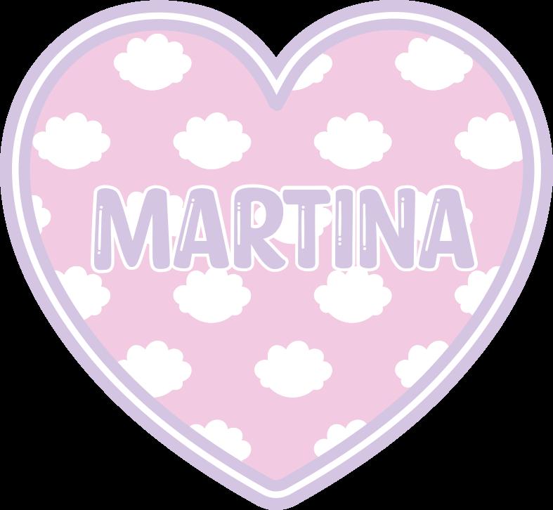 TenStickers. Covor de vinil personalizat inimă în nori. Covor de vinil pentru copii care prezintă un model uimitor de nori pe un fundal roz în formă de inimă. Reduceri disponibile.