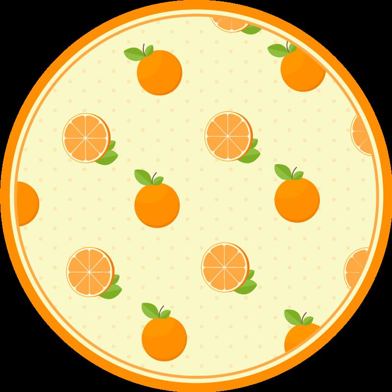 TenVinilo. Alfombra vinilo cocina patrón de naranjas. Alfombra vinilo cocina con asombroso diseño de diferentes frutas en rodajas. Es de fácil de mantener y está fabricada con un original material