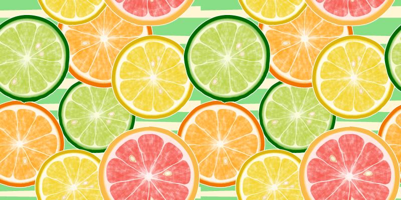 TenVinilo. Alfombra vinilo cocina limones multicolor. Alfombra vinilo moderna cítricos en rodajas de colores realistas. El diseño de diversos colores será ideal para tu hogar ¡Envío exprés!