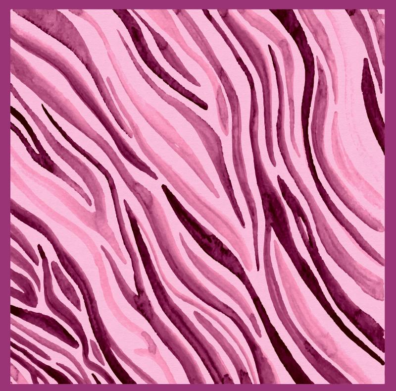 TENSTICKERS. ピンクの水彩ゼブラアニマルプリントビニールラグ. ピンクを基調としたゼブラシェイプのストライプデザインのこのキュートなアニマルプリントのビニールラグは、どんな部屋も明るくしてくれます!さまざまなサイズから選択してください。