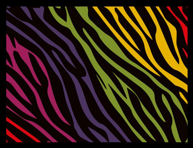 TenStickers. Tapete arco-íris com estampa de zebra e animal. Imagine o efeito que este tapete de vinil com estampa de zebra do arco-íris com estampa animal teria no seu espaço. O tapete é feito com um vinil original.