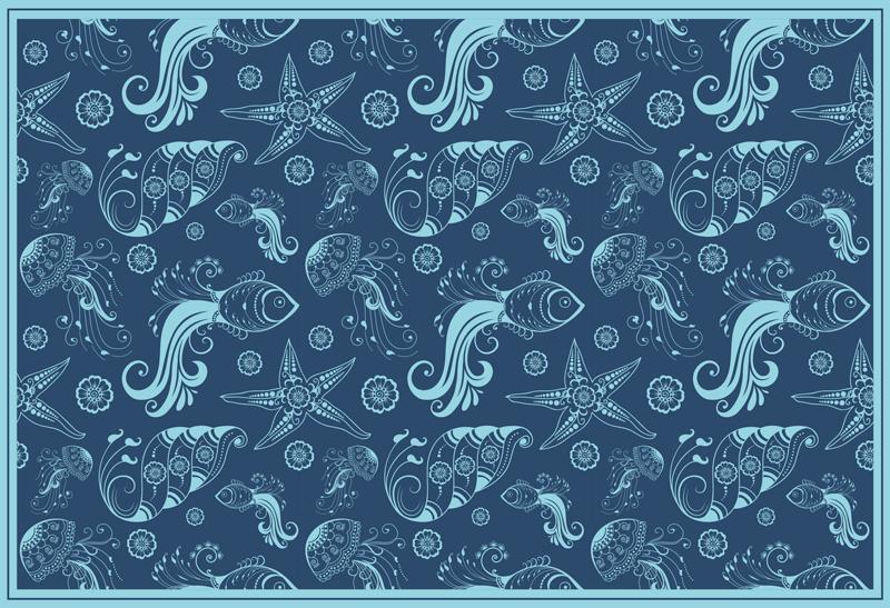 TenVinilo. Alfombra vinilo animal vida marina ornamental. ¡Alfombra vinilo animal de vida marina para que decores tu casa de forma original y bonita! Elige tus medidas ¡Envío exprés!