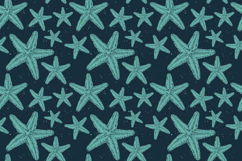 TenVinilo. Alfombra vinilo baño estrellas de mar azules. Alfombra vinilo baño en tonos azules estrella de mar de colores perfecta para decorar tu hogar u oficina ¡Envío exprés a domicilio!