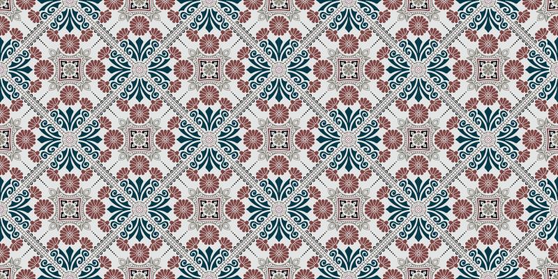 TenVinilo. Alfombras vinilo hidráulica mosaico étnico. Esta es nuestra alfombra vinilo hidráulica que decorará tu sala de estar y cualquier otra habitación de tu elección de una manera hermosa.