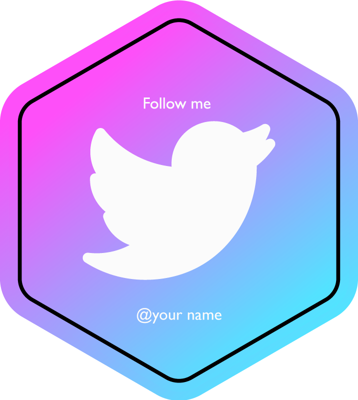 TenStickers. Custom Twitter Follow personalised vinyl rug. Custom Twitter Follow personalized mat - Our social media vinyl carpet offers you with all media design for your business.