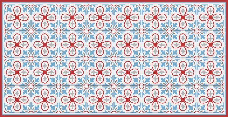 TenVinilo. Alfombra vinílica azulejos marroquíes rojos. ¿Quieres decorar tu cocina de una manera muy bonita? ¡Entonces esta es la alfombra vinílica azulejos que estabas buscando! ¡Compra online!