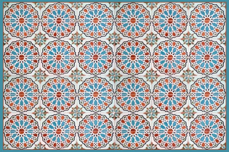 TenVinilo. Alfombra vinilo cocina círculos azul vintage. Alfombra vinilo cocina con círculos de tonos azules y de estilo retro para que decores tu cocina de forma original ¡Envío exprés!