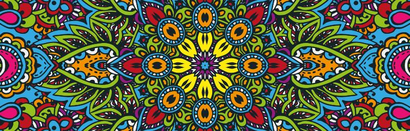 TenVinilo. Alfombra vinilo moaico mandala multicolor. ¡Alfombra vinilo mosaico de mandala muy elegante que realmente le dará a tu casa mucha más energía! ¡Elige las medidas que desees!