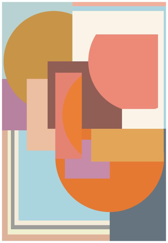 TenVinilo. Alfombra vinílica mosaico geométrico moderno. ¡Alfombra vinílica mosaico decorativa muy única y fresca que realmente le dará a su hogar más luz! ¡Ideal para salón o habitación!