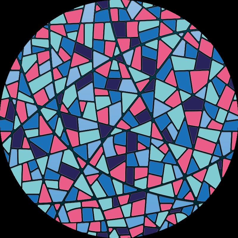 TenVinilo. Alfombra vinílica mosaico imitación vitral. Esta alfombra vinílica mosaico es una solución perfecta para agregar carácter y estilo a su hogar. Elige tus medidas ¡Envío exprés!