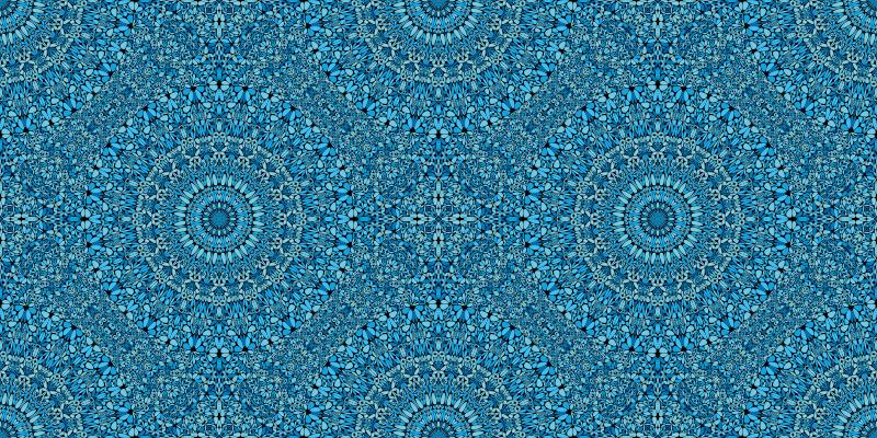 TenVinilo. Alfombra vinílica patrón mandala azules. Alfombra vinilo mandalas romanos: disfrute de su lugar con nuestro diseño de mandalas que es antideslizante y muy fácil de limpiar ¡Envío exprés!